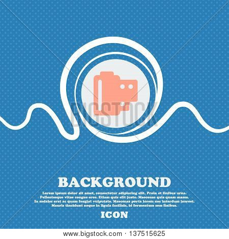35 Mm Negative Films  Sign Icon. Blue And White Abstract Background Flecked With Space For Text And