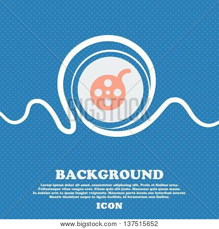 Film  Sign Icon. Blue And White Abstract Background Flecked With Space For Text And Your Design. Vec