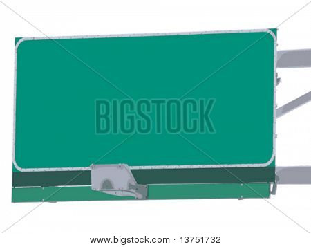 A vector of a highway exit sign. Blank for your text