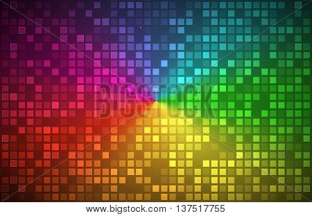 Colorful abstract background color gradient with transparent squares vector illustration