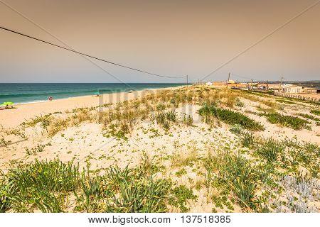 Beach of Faro Algarve Portugal Europe .