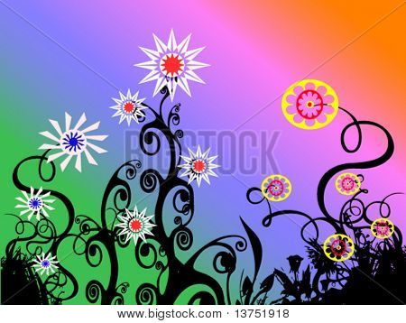 A floral abstract in vector