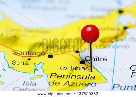 Las Tablas pinned on a map of Panama