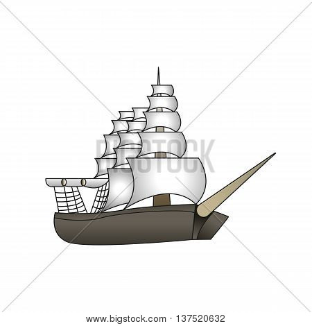 Old sailboat. Old School Tattoo style. Vector
