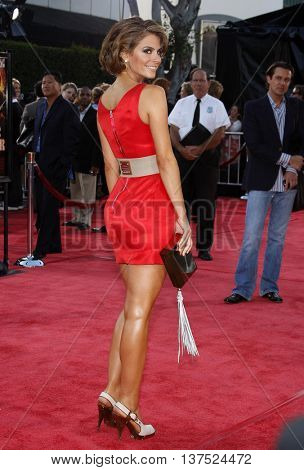 Maria Menounos at the Los Angeles premiere of 'Tropic Thunder' held at the Mann Village Theater in Westwood, USA on August 11, 2008.