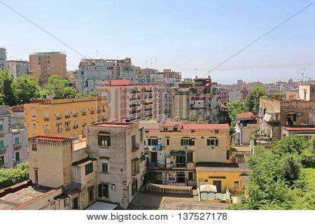 Residential Neighborhood Condo Buildings in Naples Italy