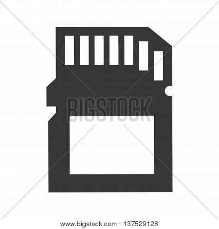 Gadget and technology concept represented by memory icon. isolated and flat illustration