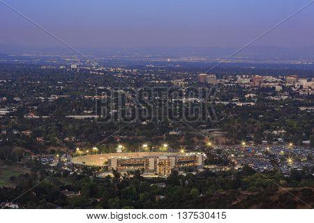 The Beautiful Pasadena City Hall And Pasadena Downtown View