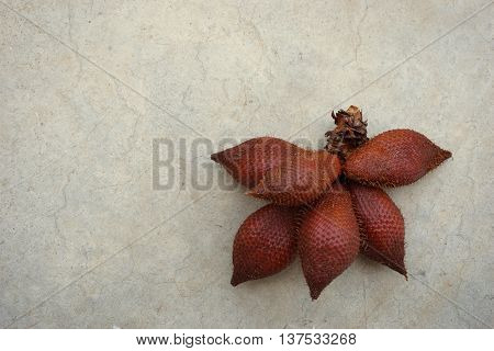 group of Salacca zalacca fruits are the favorite in tropical eating fruit with sweet in test