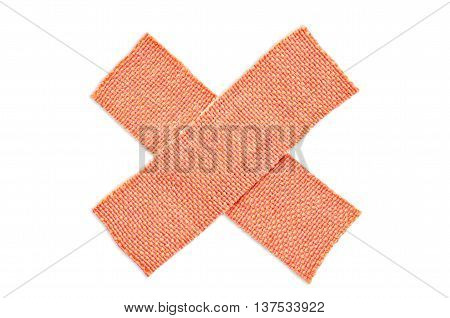 First-aid adhesive plasterIsolated on white with clipping paths.