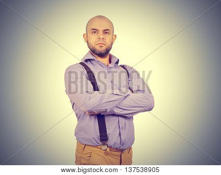 Arrogant Man Businessman In A Shirt