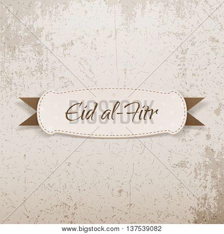 Eid al-Fitr decorative paper Tag. Vector Illustration