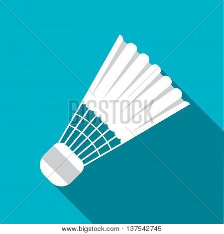 Equipment For Sports. Flat Sports Objects For Badminton. Isolated Shuttlecock. Vector Illustration.