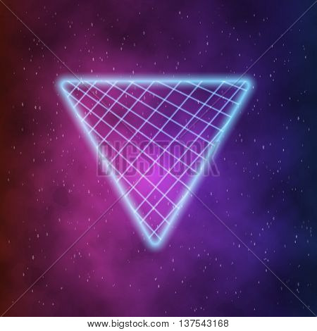 Illustration neon style triangle vector photo bigstock - Space 80s wallpaper ...