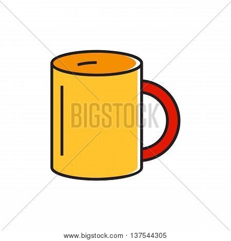 Mug illustration. Drinking, tea, coffee. Kitchen concept. Can be used for topics like kitchen, drinks, tea time