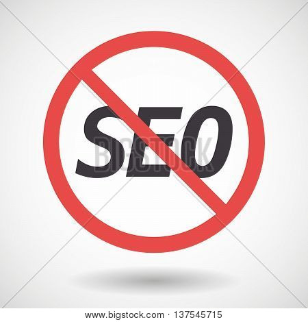 Isolated Forbidden Signal With    The Text Seo