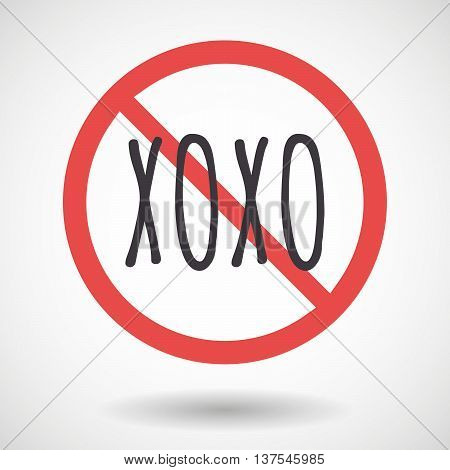 Isolated Forbidden Signal With    The Text Xoxo