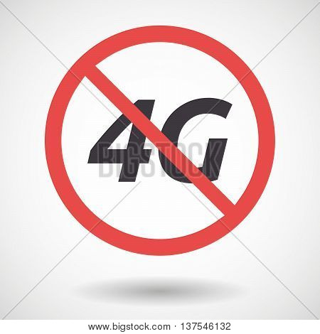 Isolated Forbidden Signal With    The Text 4G