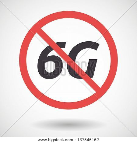 Isolated Forbidden Signal With    The Text 6G