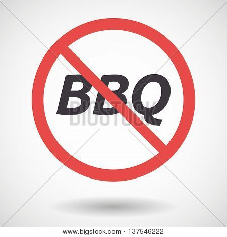 Isolated Forbidden Signal With    The Text Bbq
