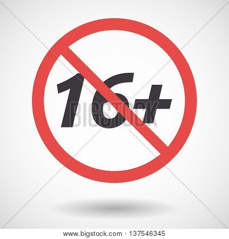 Isolated Forbidden Signal With    The Text 16+