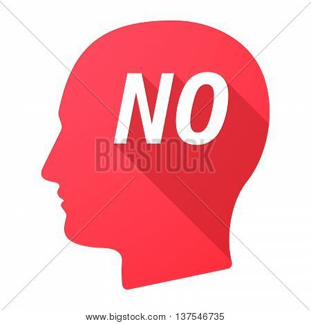 Isolated Long Shadow Male Head With    The Text No