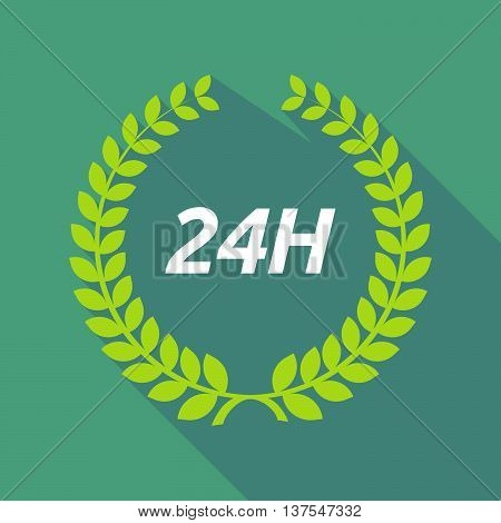 Long Shadow Laurel Wreath With    The Text 24H