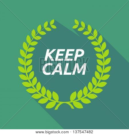 Long Shadow Laurel Wreath With    The Text Keep Calm