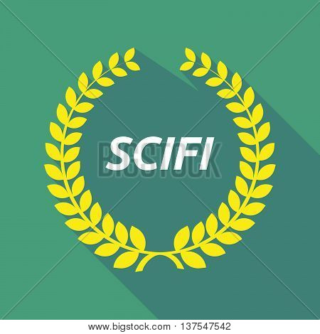 Long Shadow Laurel Wreath With    The Text Scifi