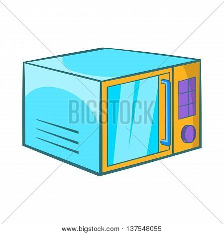 Microwave icon in cartoon style isolated on white background. Appliances symbol