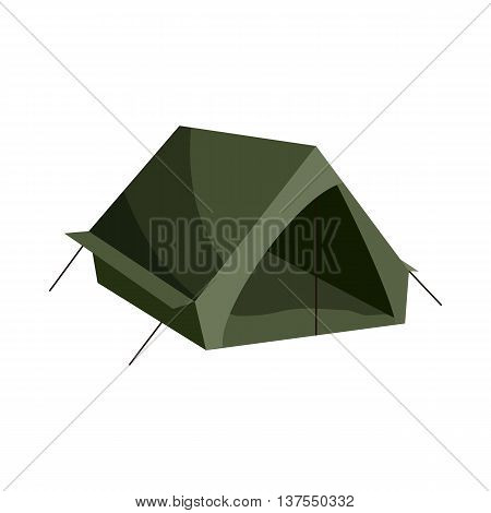 Tent icon in cartoon style isolated on white background. Turism symbol