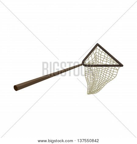 Net icon in cartoon style isolated on white background. Fishing symbol