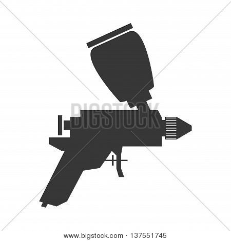 Constuction and repair concept represented by spray paint tool icon. isolated and flat illustration