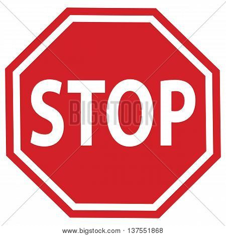 stop sign, vector, symbol, safety, sign, traffic, outline, road sign metal red single object illustration law computer graphic