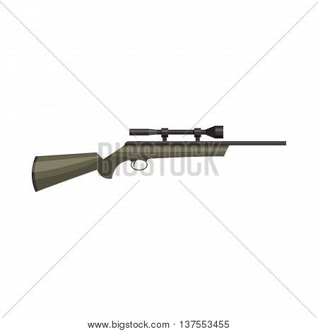 Hunting rifle icon in cartoon style isolated on white background. Weapon for shooting symbol