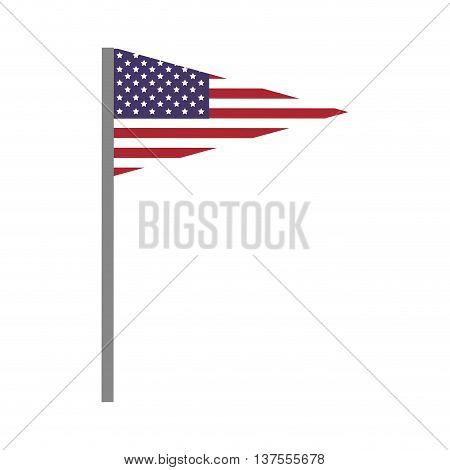 USA concept represented by pennant and flag icon. isolated and flat illustration