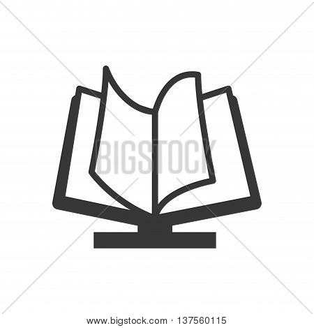 Reading and learning online concept represented by ebook icon. isolated and flat illustration