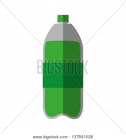 Soda and drink  concept represented by bottle icon. isolated and flat illustration