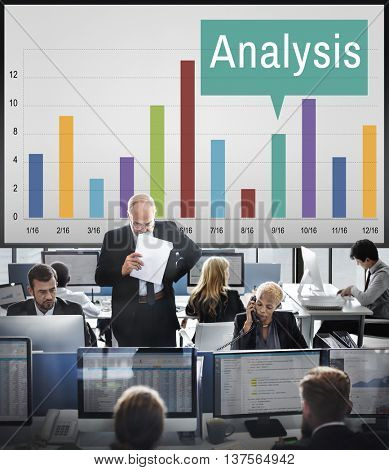 Analysis Analytics Graph Growth Statistics Concept
