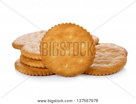 Closeup Biscuits on white background. food. Biscuits