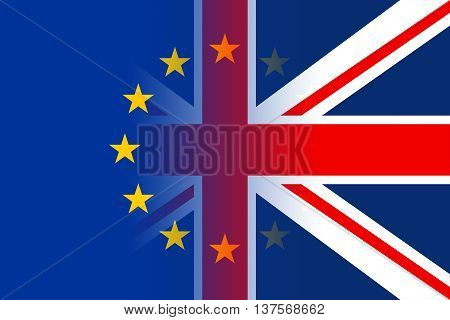 Brexit Flags Indicates Britain Referendum Democracy And Remain