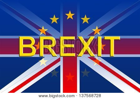 Brexit Flags Represents Britain Remain Voting And British