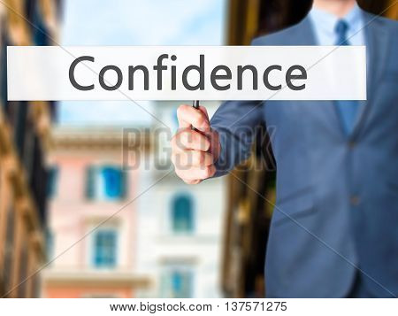 Confidence - Business Man Showing Sign