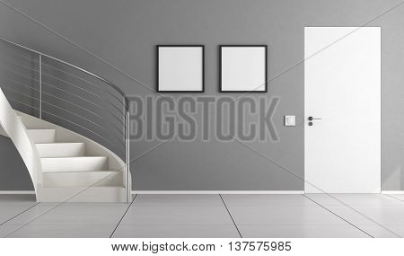 Home Interior With Staircase