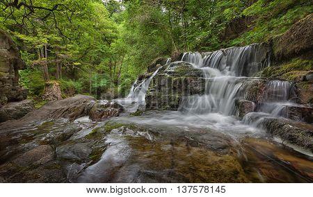 Sgwd y Pannwr  Panwar, or Sgwd y Pannwr waterfall on the Mellte river, near Pontneddfechan in South Wales, UK.