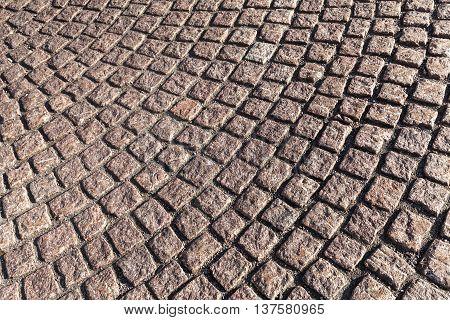Brown Cobblestone Street Pavement, Texture