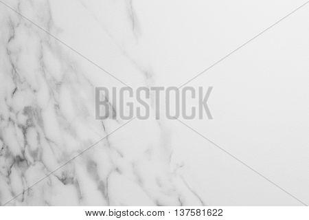White textured marble backgound detail. Indoor decoration. Horizontal