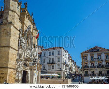 Santa Cruz Monastery In Coimbra. Portugal.