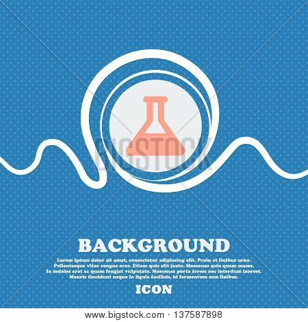 Conical Flask  Sign Icon. Blue And White Abstract Background Flecked With Space For Text And Your De
