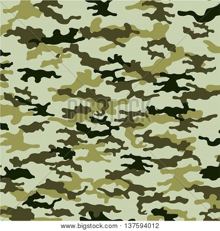 Illustration of green design vector army background